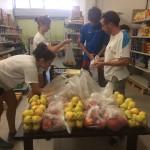 Pesatura della frutta